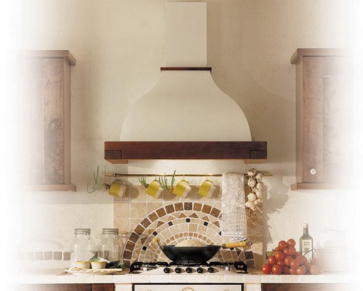 Купольная вытяжка в интерьере кухни