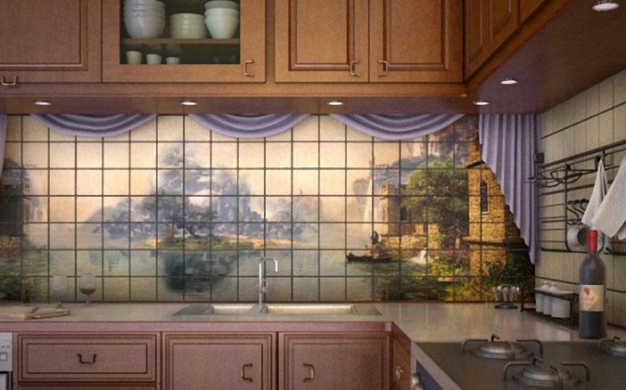 Фотопанно для кухни