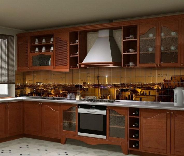Фотопанно превращает кухню в дизайнерское помещение