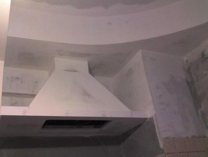 Вытяжка на кухню своими руками из гипсокартона