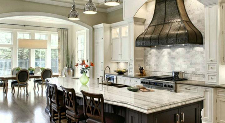 декоративная вытяжка в интерьере кухни