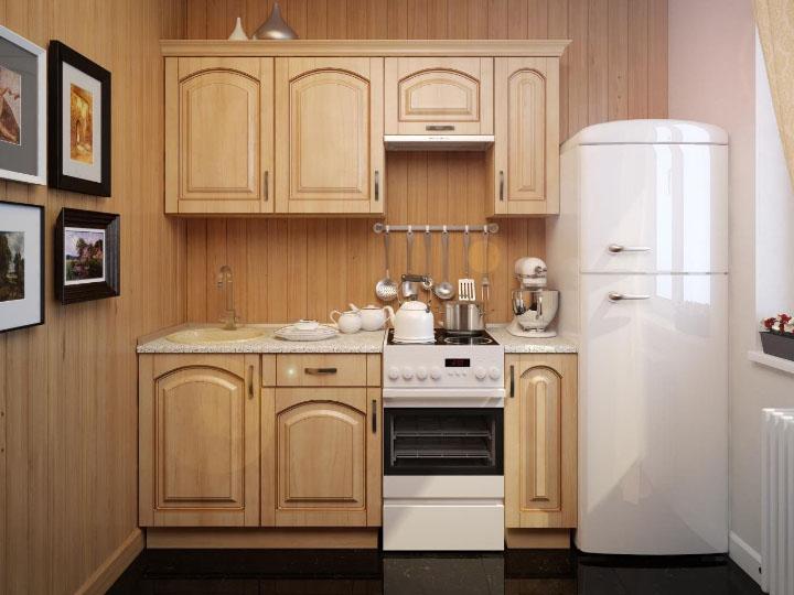 кухня для небольшого помещения из дерева