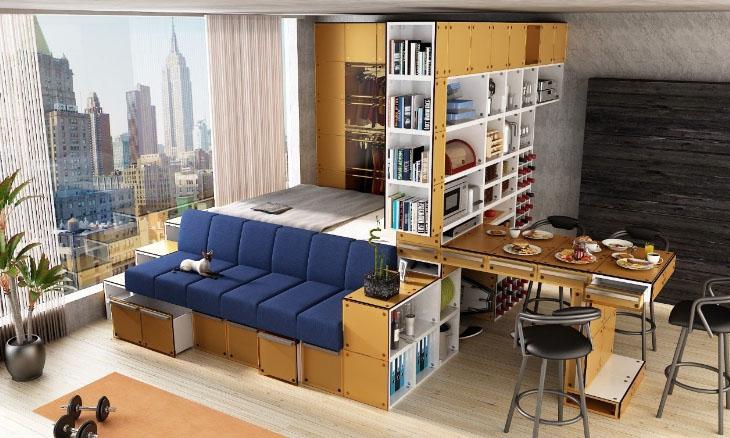 кухня и спальное место