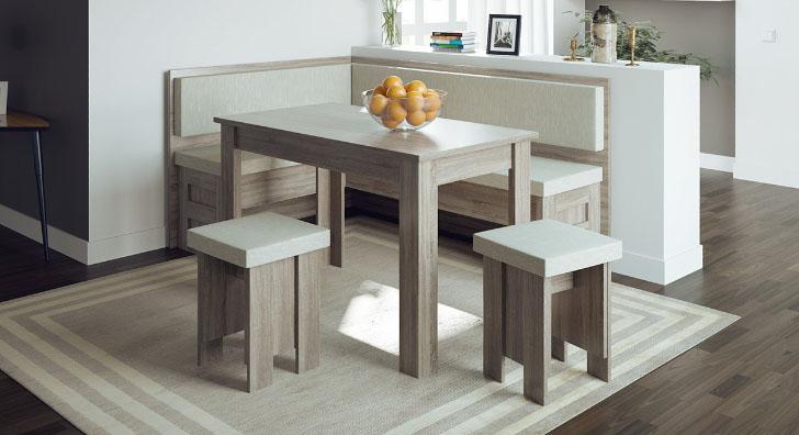 кухонный уголок с комплектом мебели