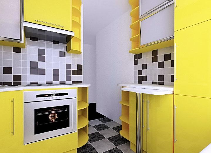 маленькая желтая кухня
