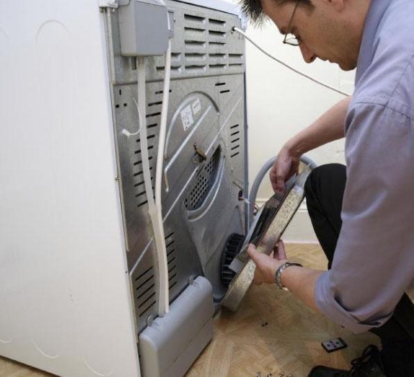 стиральная машина и мужчина