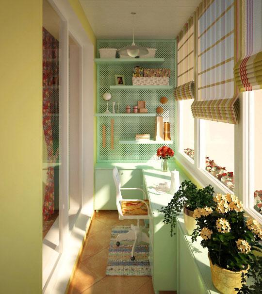 часть кухни на балконе