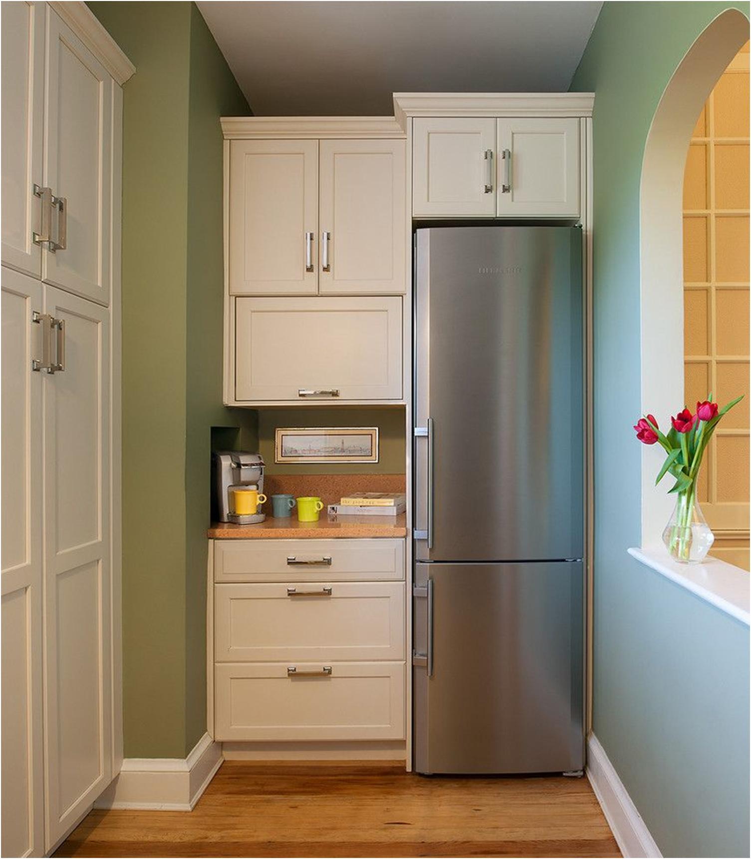 Холодильник на кухне (46 фото): выбираем правильное место.