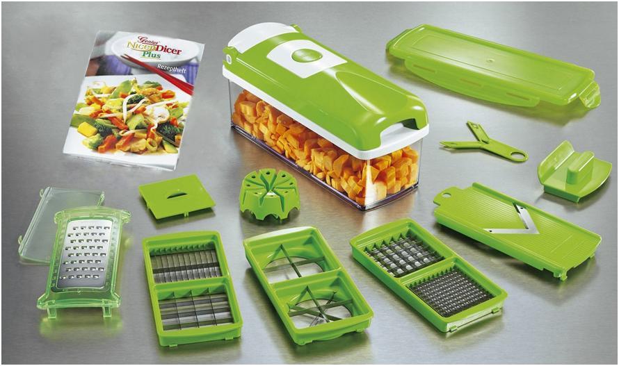Электрическая овощерезка для сырых овощей кубиками