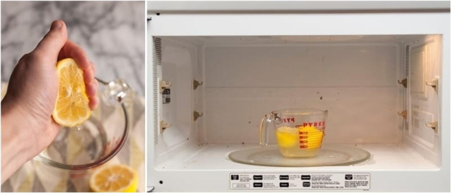 Как очистить микроволновку внутри лимонной кислотой