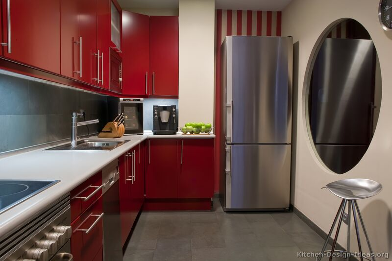 kitchen-cabinets-modern-red-004a-s23587891