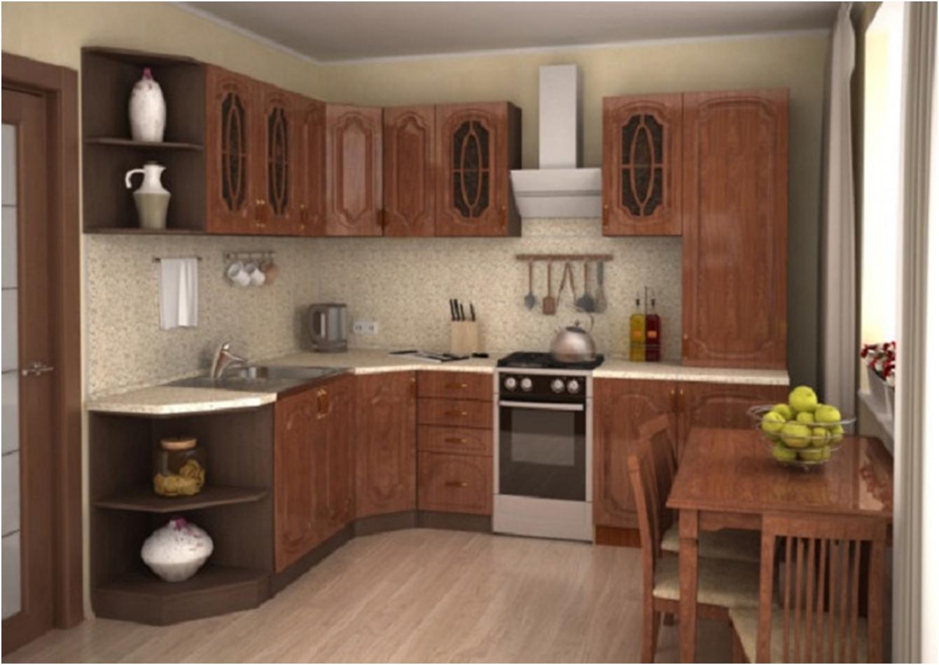 Кухня модульная Настя кедр
