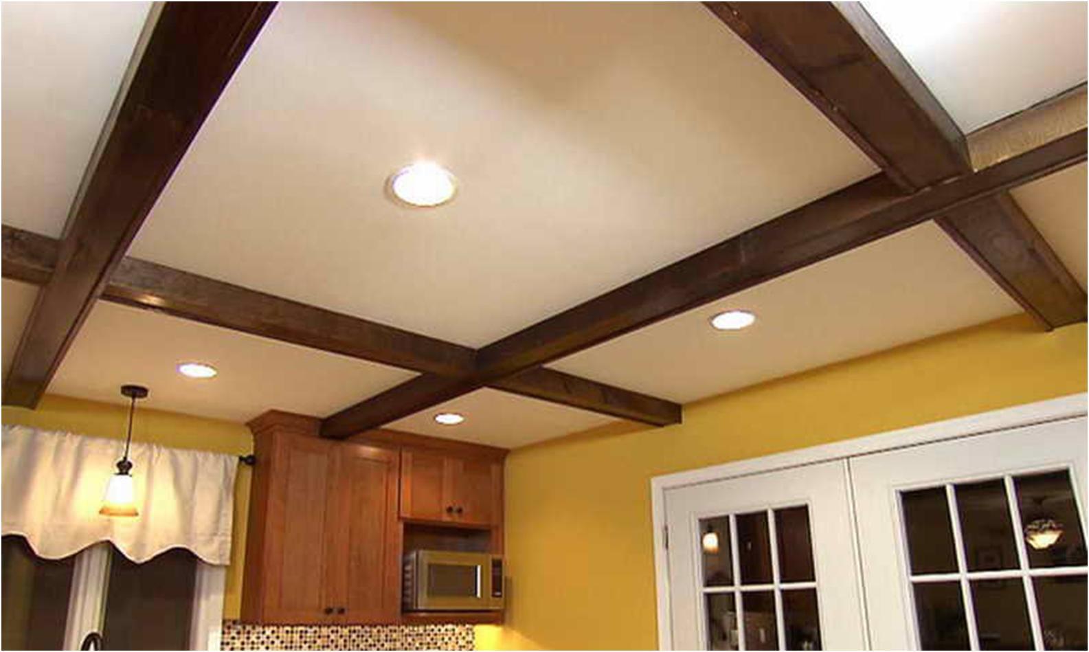 Как сделать потолок с подвесными балками