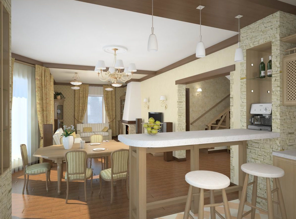 Кухня с залом картинки
