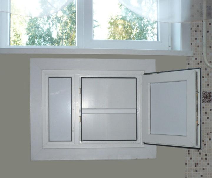 ниша на кухне под окном