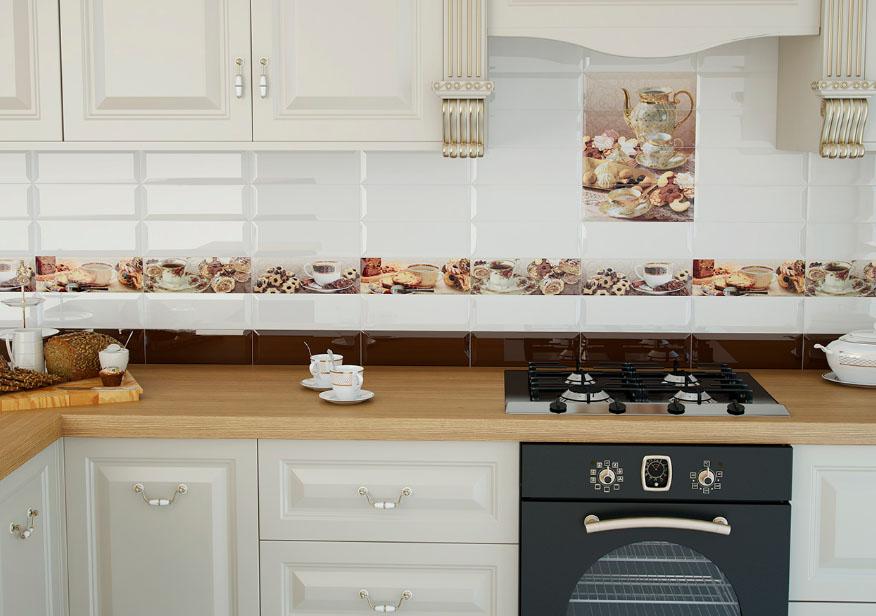 найдет фотографии фартуков для кухни из плитки шьют