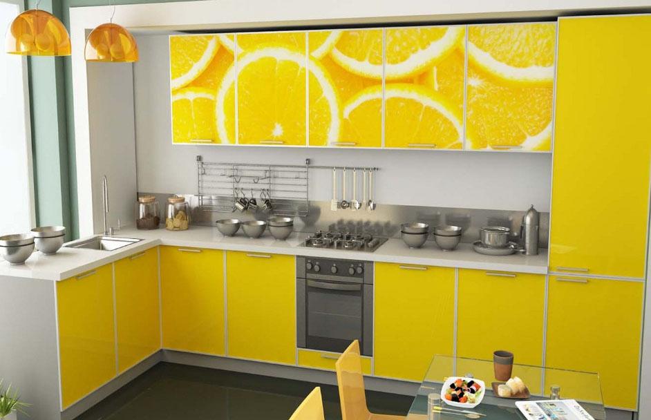 красивый рисунок на фасаде кухни