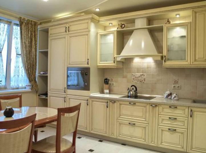 кухня из модулей со шкафом