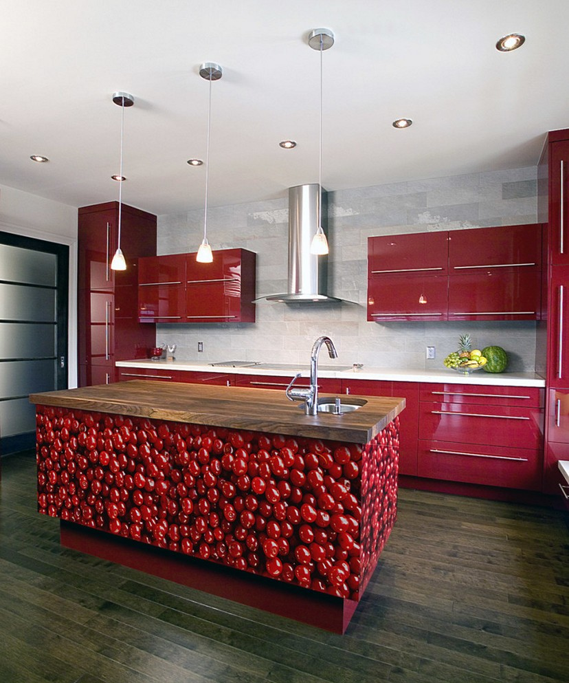 Cherry-Red-Kitchen-Cabinets