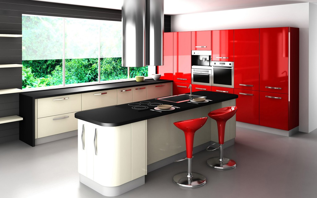 Perfect-Red-Kitchen-Cabinets-Models-With-Red-Decor-Ideas-Tha