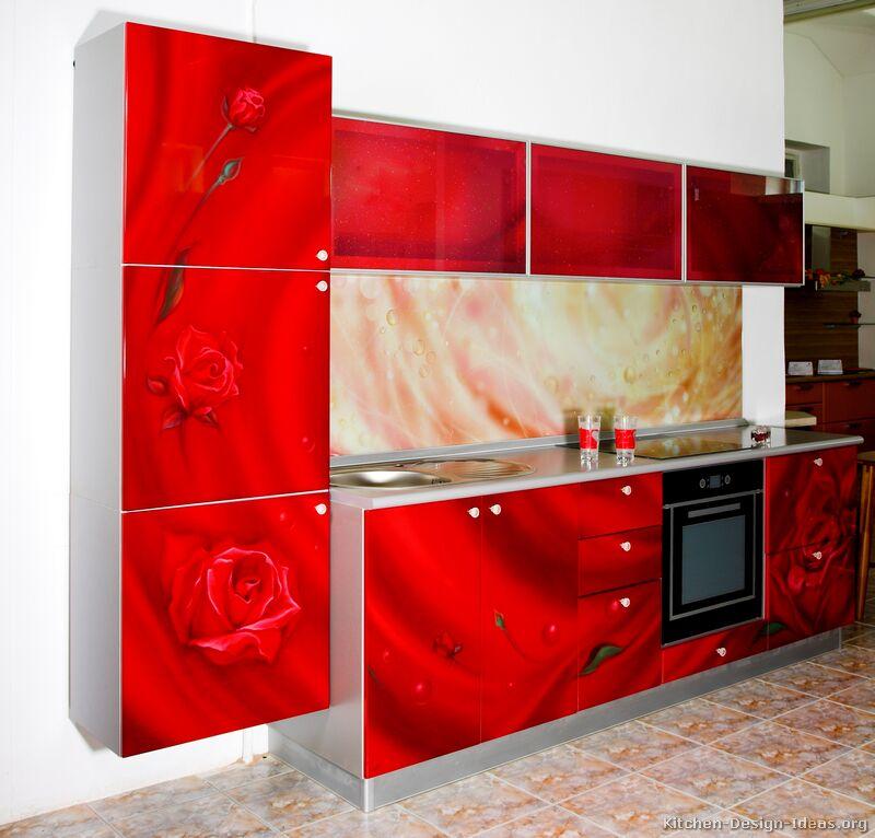 кухня-шафы-сучасны чырвоны-001а-s24952210-ружова-фота-друк-