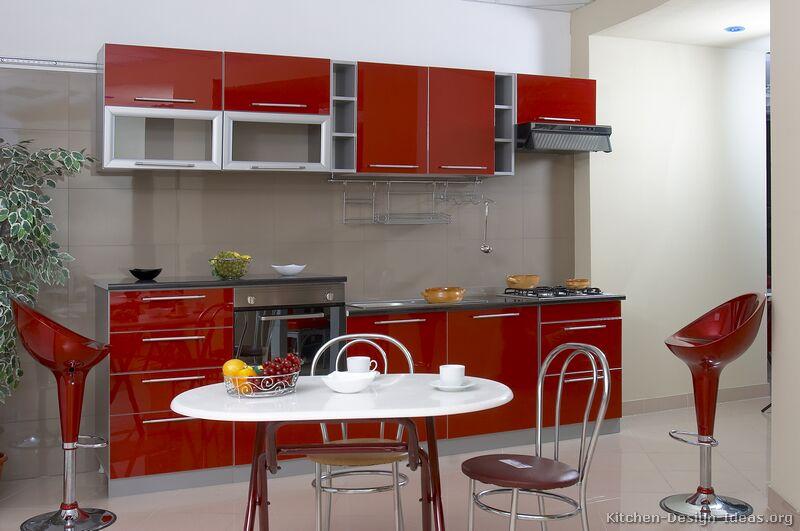 кухня-шафы-сучасны два тону-017а-s3466982-чырвона-шэры