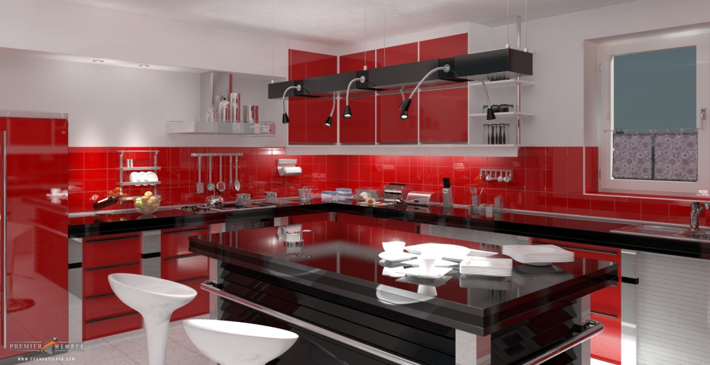 red-kitchen-For-decorating-the-house-with-a-minimalist-Kitch