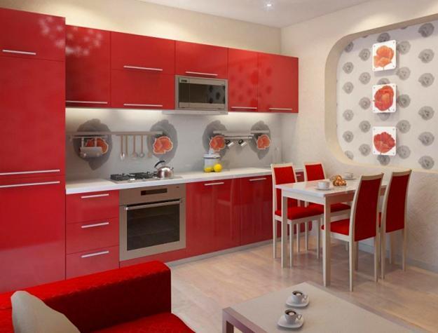 чырвона-кухня-дызайн дэкарыравання-ідэі-8
