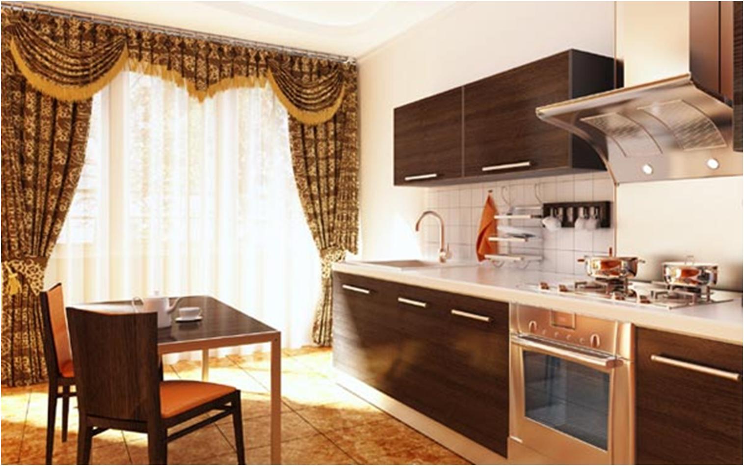 Шторы на кухню с балконной дверью — как сделать правильный выбор?