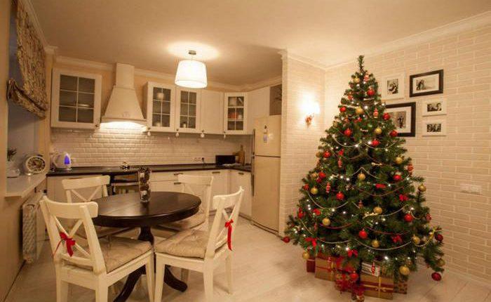 кухни ёлкой в Новый год