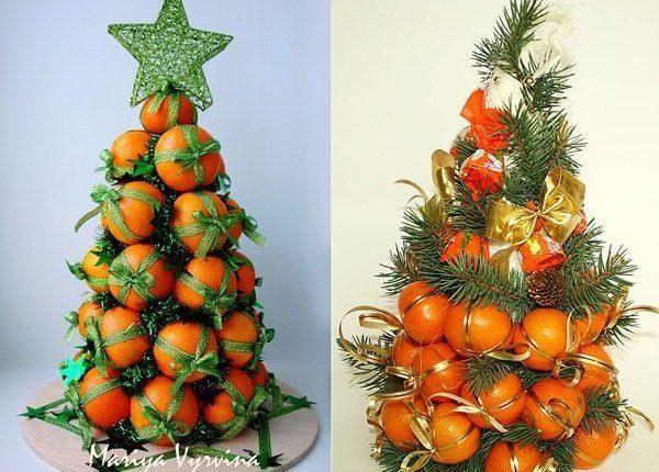 ёлка из апельсин